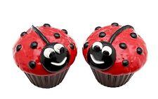 Appletree Design Ladybug Cupcake Salt and Pepper Set, 2-3/8-Inch