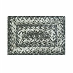 """Homespice Decor COBBLESTONE 10"""" x 15"""" Braided Rectangle Tablemat Grays, Charcoal"""