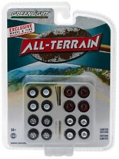 1:64 GreenLight *ALL TERRAIN* WHEEL TIRE ACCESSORY PACK *4 SETS* CUSTOMIZE NIP