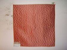 "Highland Court ""Quilted Circles"" geometric novelty fabric remnant, color coral"