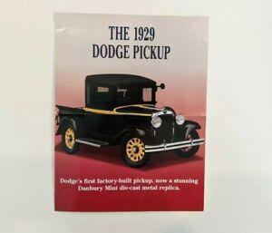Danbury Mint 1929 Dodge Pickup Full Color Brochure