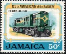 "(Ref-12806) Jamaica 1970 ferrocarriles - 50 C ""el proyector"" SG.327 Mint estampillada sin montar o nunca montada"