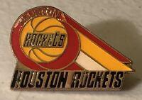Vintage 1992 Houston Rockets NBA Basketball Lapel Hat Pin ~ Akeem Olajuwon