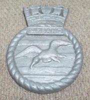HMS Simbang - Singapore - Royal Navy Ships Unpainted Aluminium Plaque / Crest