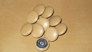 10 Upholstery buttons in Light Tan Faux leather 20mm