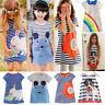 Baby Girls Casual Dress Kids Toddler Long Sleeve Shirt Dress Princess Sundress