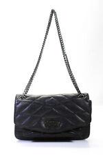 Zadig & Voltaire Womens Chain Strap Top Stitch Shoulder Handbag Black
