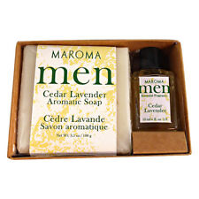 Maroma Men Cedar Lavender Soap and Perfume Gift Set