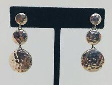 John Hardy Sterling Silver Hammered Dangle Earrings