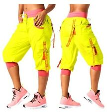 Authentic New Zumba Throwback Glow Cargo Capri Pants ~ Zumba Green  ~  XS  ~ NWT