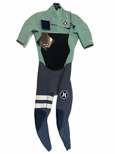 NEW Hurley Mens Full Wetsuit Size XS Fusion Chest Zip SS - Retail $230