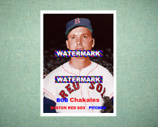 Bob Chakales Boston Red Sox 1957 Style Custom Art Card