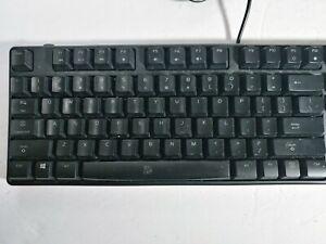 Tt Poseidon Illuminated Blue LED Mechanical Gaming USB PC Keyboard Tested
