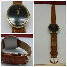 Armbanduhr Sarcar Geneve Uhr braunes Lederarmband Damenuhr Handaufzug Diamant