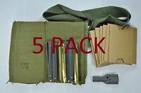 5 count USGI 5.56mm .223 7 Pocket Bandolier Repack Kit Stripper Clips Bandoleer