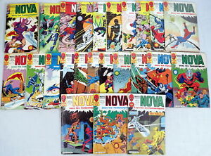 Lot 24 Marvel LUG Super Heros Nova Comics #19-65 French Language 1979-1983