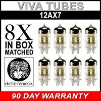 Brand New In Box Gain Matched Octet (8) Electro-Harmonix 12AX7 Vacuum Tubes