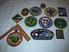 LOT of 13 pcs- Includes 12 Boy Scout Badges & 1 Neckerchief slide, excellent !!!