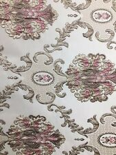 Pink Taupe Damask Brocade Upholstery Fabric (54 in.) Sold Bty