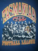 TDFL TASMANIAN DEVIL FOOTBALL LEAUGUE T SHIRT Old Timey Photo vtg 90s Taz Tee L