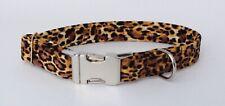 Handmade Animal Print Fabric Dog Collar  (matching lead available)