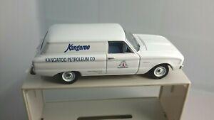 TRAX 1:43 Scale 1959 Ford XK Falcon Van Kangaroo Petroleum The Originals  White