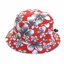 Unisex Packable Adjustable Red Bush Hat - Great for Holidays & Music Festivals