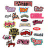 DIY Words Slogan Embroidered Sew Iron On Badge Patches Clothing Fabric Applique