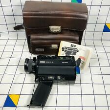 Vintage Retro Eumig 31XL Live Sound Super 8 Cine Camera With Case Tested Working