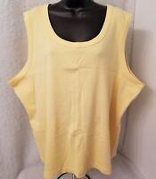 CJ Banks Womens Yellow Tank Shirt Top Blouse Size 3X