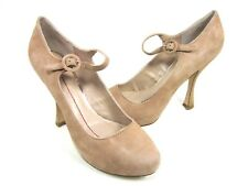 DV BY DOLCE VITA WOMEN'S PIPPI MARY JANE PUMP, BLUSH SUEDE, US 10 M, NEW W/O BOX