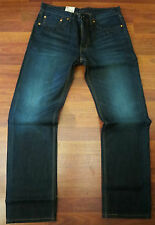Levi's 505 Straight Leg Jeans Men's Size 36 X 34 Sexy Dark Distressed Wash NEW