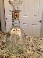 New listing Empty BaR Back Vintage Walker's DeLuxe Bourbon Glass Whiskey Decanter Bottle