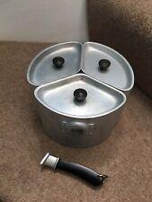 More details for vintage swan brand aluminium 2 pint trio triple pans - no handles