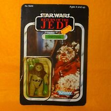 VINTAGE 1983 KENNER STAR WARS RETURN OF THE JEDI CHIEF CHIRPA FIGURE OPEN CARD