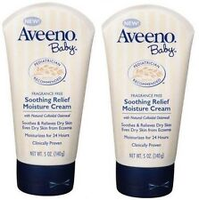 Aveeno Baby Soothing Relief Moisture Cream 5 Oz (Pack of 2)