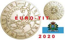 """5 € SAINT MARIN 2020    COMMEMO   ZODIAQUE   """"  SCORPION   """"   2020   disponible"""