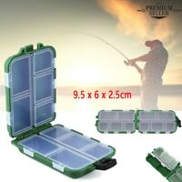 Fishing Lure Bait Box Tackle Waterproof Storage Box Case With10 Compartments UK