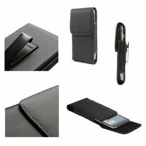 for HTC Windows Phone 8X Case Metal Belt Clip Synthetic Leather Vertical Premium