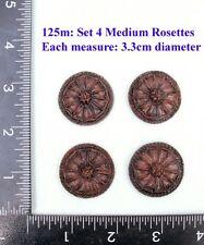 "125M ""4  Circular badges"" clock case / furniture DIY"