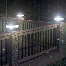 OUTDOOR DECKING POST SOLAR  POWERED LIGHT GARDEN DECK CAP SQUARE Free P&P