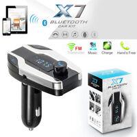 X7 Bluetooth Sans fil Kit Voiture FM Transmetteur USB Chargeur MP3 Musique TF UK