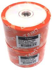 100-Pak Titan 16X DVD-R Glossy White Inkjet Hub Printable Discs ( T6891199-100 )
