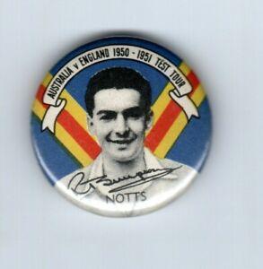 Argus 1950-51 cricket badge, R. Simpson, England