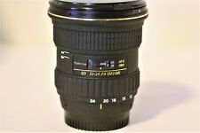 Tokina Aspherical SD 12-24mm F4 IF DX Fisheye 77mm Lens AT-X PRO Excellent!