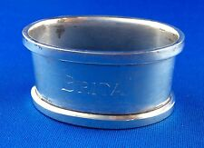 "Serviettenring Sterling Silber 925, Gravur ""BRITA"" silver napkin holder"