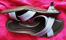 ANN TAYLOR SHOES BLUE SUEDE/LEATHER SLIDES !S 8/38,5 M MADE IN BRAZIL!