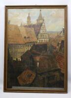 Gemälde Rathaus Kitzingen von Friedrich Trost der Jüngere