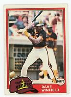 1981 Topps Dave Winfield Baseball Card #370  San Diego Padres