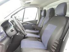 2+1 Sitzbezüge Grau für Opel Vivaro 2014+ Passgenau Schonbezüge Sitzbezug